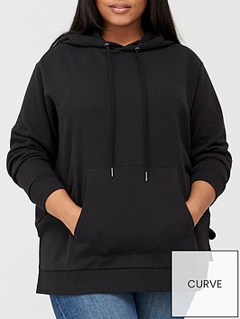 v-by-very-curve-valuenbspsplit-hem-hoodie-black
