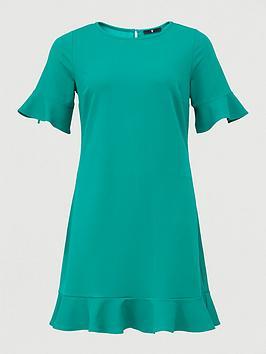 v-by-very-curve-jersey-crepe-shift-dress-green