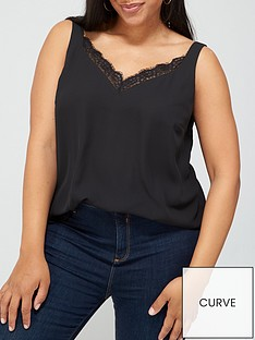 v-by-very-curve-lace-trim-cami-top-black