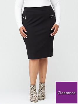 v-by-very-curve-zip-detail-ponte-stretch-pencil-skirt-black