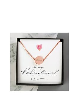 Very Personalised Be My Valentine Sentiment Box And Disc Necklace Picture