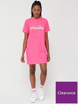 ellesse-exclusive-jessi-t-shirtnbspdress-pinknbsp