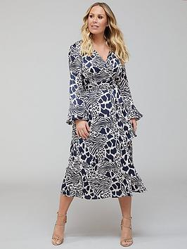 Kate Ferdinand  Printed Midi Dress - Print
