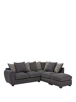 Very Harrison Compact Fabric Right Hand Corner Chaise Scatter Back Sofa  ... Picture