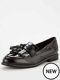 v-by-very-meadow-tassel-loafers-black