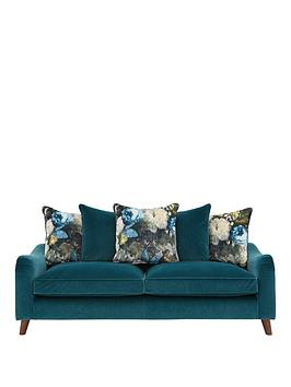 Very Nova Fabric 3 Seater Scatter Back Sofa Picture