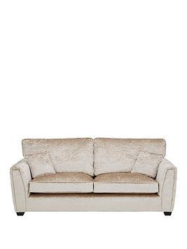 Very Glitz Fabric Standard Back 3 Seater Sofa Picture