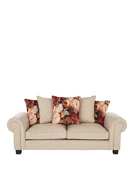 Very Belgravia Fabric 3 Seater Scatter Back Sofa Picture
