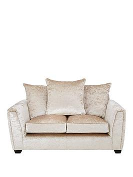 Very Glitz Fabric 2 Seater Sofa - Champagne Picture