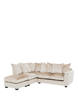Very Glitz Fabric Left Hand Corner Group Scatter Back Sofa - Champagne Picture