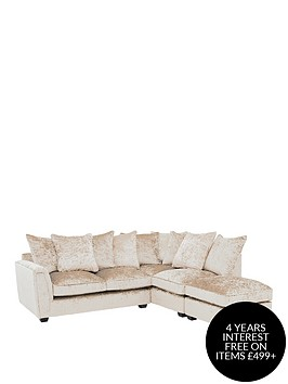 glitz-fabric-right-hand-corner-group-scatter-back-sofa-champagne