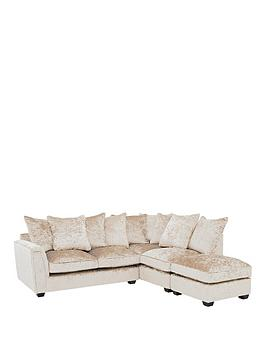 Very Glitz Fabric Right Hand Corner Group Scatter Back Sofa - Champagne Picture