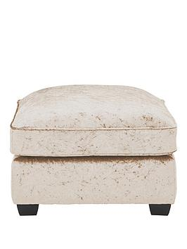 Very Glitz Fabric Footstool Picture