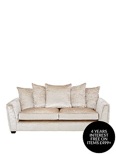 glitz-fabric-3-seater-scatter-back-sofa-champagne