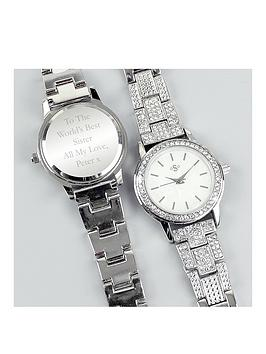 personalised-diamante-ladies-watch