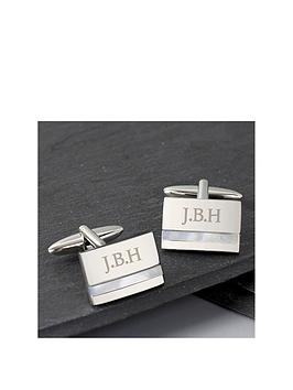 Very Personalised Mother Of Pearl Cufflinks Picture