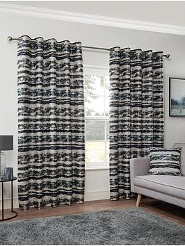 Very Horizon Lined Eyelet Curtains Picture