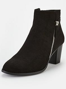 v-by-very-fleet-zip-low-heel-ankle-boots-black
