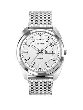 Accurist Accurist Accurist Retro Range Silver Daydate Dial Stainless Steel  ... Picture