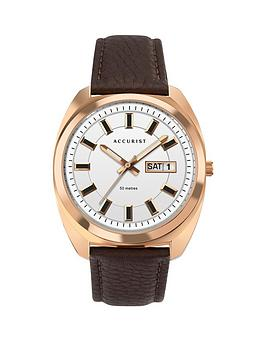 Accurist Accurist Accurist Retro Range White And Rose Gold Detail Daydate  ... Picture