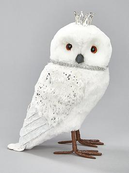 owl-with-crown-christmas-room-decoration