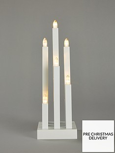 9-light-woodennbspcandle-christmas-decoration-white