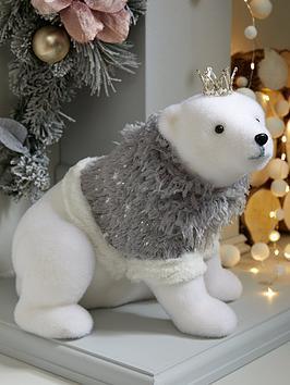 Product photograph showing Polar Bear Christmas Room Decoration