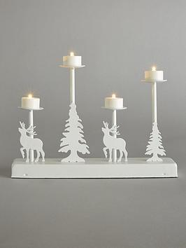 Product photograph showing Candle Bridge Lit Winter Scene Christmas Decoration