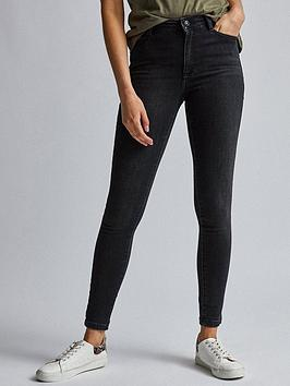 Dorothy Perkins Dorothy Perkins Alex Mid Rise Skinny Jeans - Black Picture