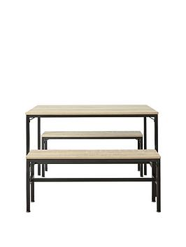 telford-110-cm-dining-table-with-2-benches-light-oak-effect