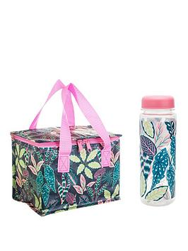 Sass & Belle Sass & Belle Variegated Leaves Lunch Bag And Water Bottle Picture