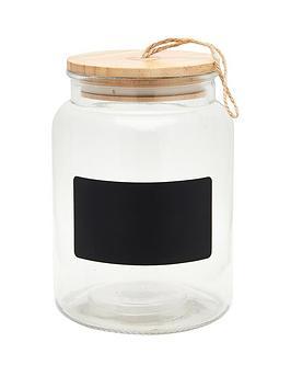 Sass & Belle Sass & Belle Glass Chalkboard Storage Jar Picture