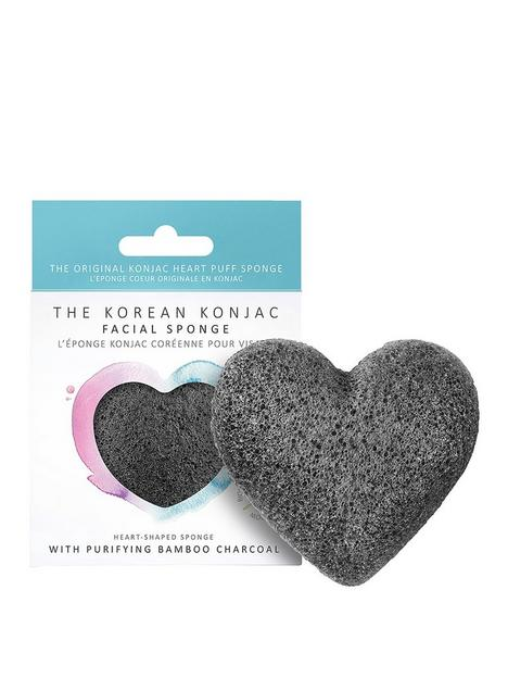 the-konjac-sponge-company-premium-heart-puff-with-bamboo-charcoal