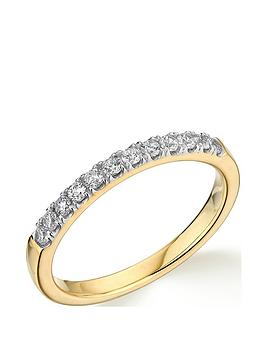 Very  9Ct Gold 0.25Ct Diamond Micro Setting Eternity Ring
