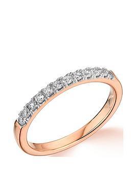 Very  9Ct Rose Gold 0.25Ct Diamond Micro Setting Eternity Ring