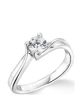 Love DIAMOND Love Diamond 9Ct White Gold 4 Claw Twist Design 0.5Ct  ... Picture