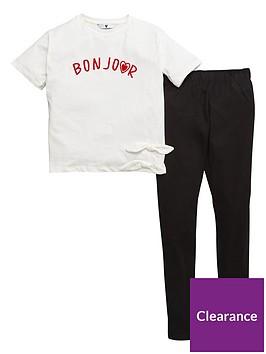 v-by-very-girls-bonjour-short-sleeve-top-and-legging-set-multi