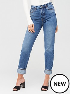 river-island-river-island-lolly-high-waist-straight-leg-jean