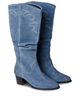 Joe Browns Joe Browns Sundown Suede Slouch Boots - Blue Picture