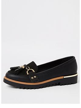 river-island-chunky-sole-loafers-black