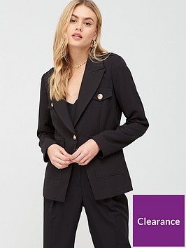 river-island-military-button-blazer--nbspblack