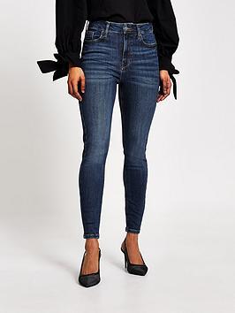 RI Petite Ri Petite High Rise Hailey Super Skinny Jeans - Blue Picture