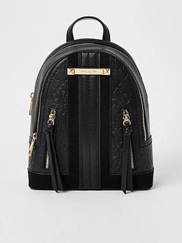 River Island River Island Panelled Backpack - Black Picture