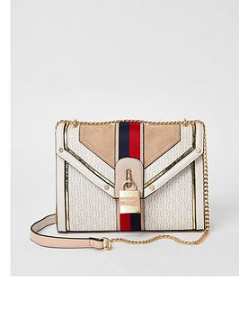 river-island-stripe-front-monogram-shoulder-bag-cream