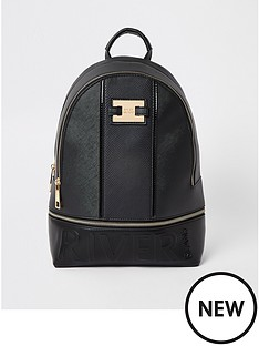 river-island-river-island-brand-embossed-backpack-black