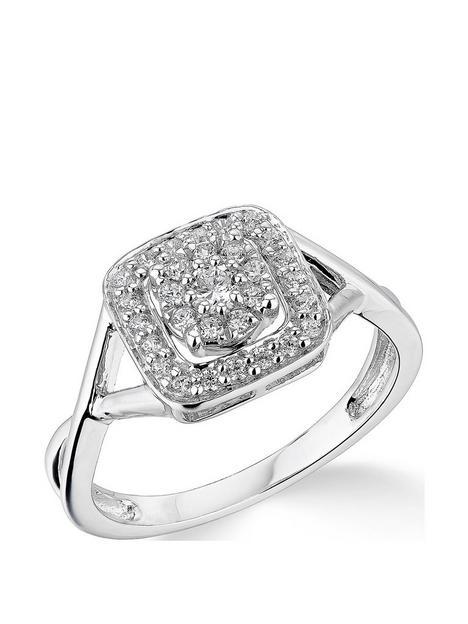 love-diamond-9k-white-gold-033ct-diamond-halo-cluster-ring