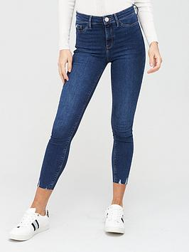 River Island River Island Molly Mid Rise Jeggings - Dark Blue Picture