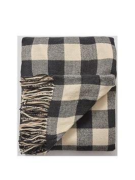 Product photograph showing Cascade Home Classic Check Throw
