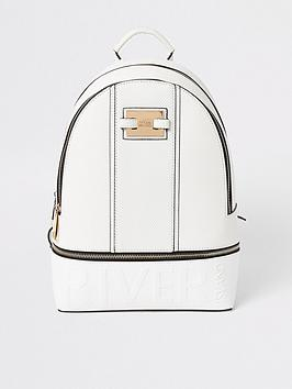 River Island River Island Brand Embossed Backpack - White Picture