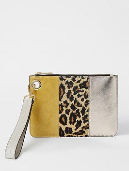 river-island-leather-animal-mix-pouch-yellow
